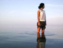 woman, alone, water, wet woman
